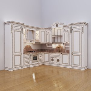 corner kitchen maria rosa 3D model
