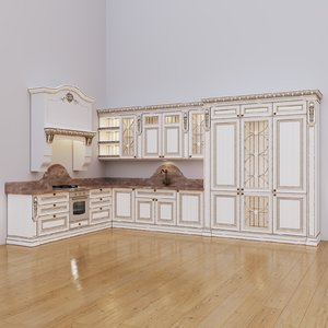 3D corner kitchen maria rosa model