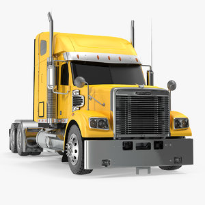 3D freightliner 122sd truck simple