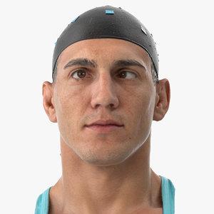 mike human head eyes 3D