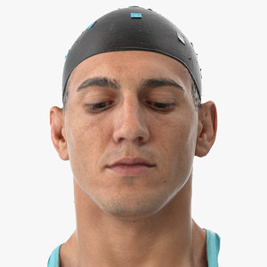 3D mike human head eyes model