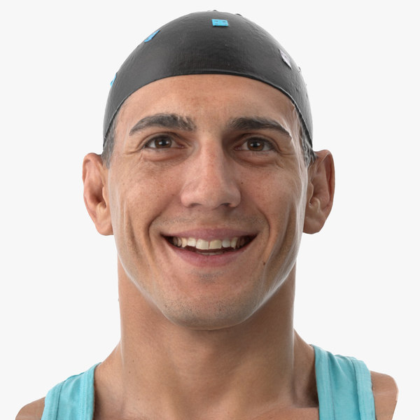 3D model mike human head smile
