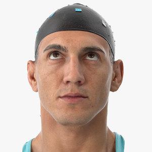mike human head eyes 3D model