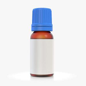 amber glass bottle 20ml model