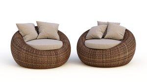 rattan chairs kiwi model