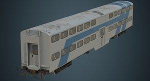 railcar rail car 3D model