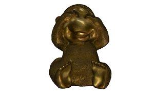 3D metal monkey