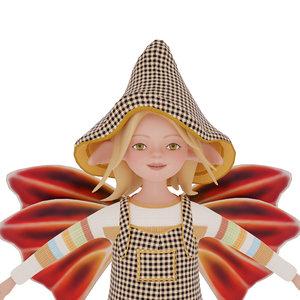 3D cute elf model