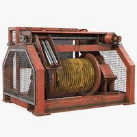 Hydraulic Mooring Winch Rusty