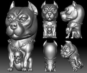 3D bull stl file printable