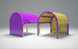 3D model inflatable tent