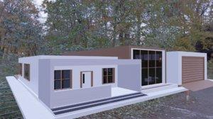 3D model minimalist house interior