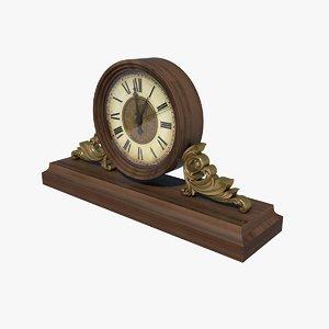 clock mantel 3D