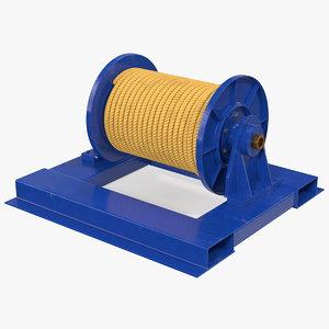 winch wire rope drum model