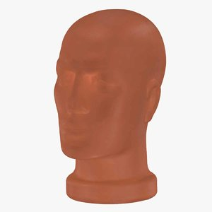mannequin head raw scan 3D model