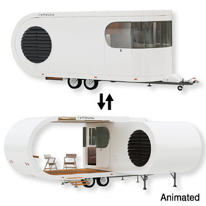 trailer camper romotow 3D model