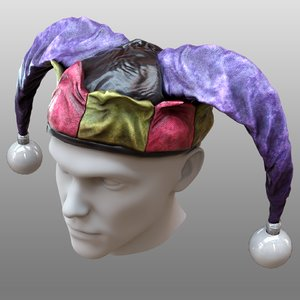 3D jester s hat