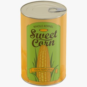 3D model canned sweet corn