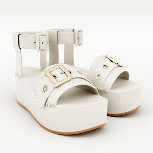 3D wedge sandal model