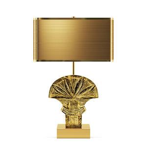 3D model assouan table lamp