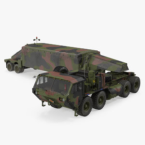 3D model camouflage m983 tractor tpy2