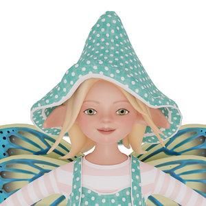 3D model cute elf