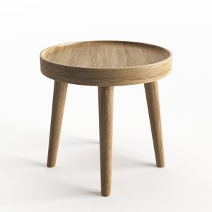 simple wood table 3D