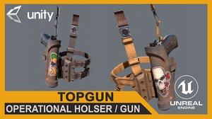 gun operational holster model