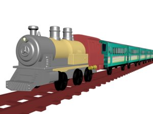 classic passenger train model