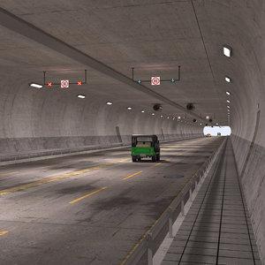 tunnel road 3D model