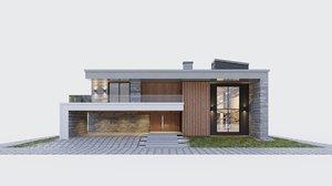 3D modern storey villa model