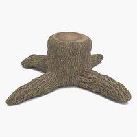 tree 26 1  real stump - trunk