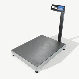 low-poly floor scales 3D model