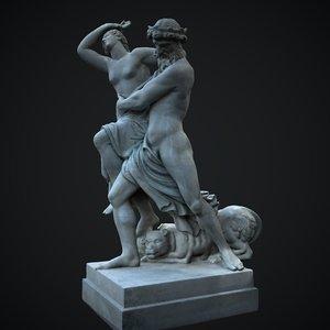 statue hades persephone 3D