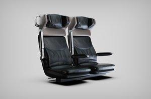 seats stadler train 3D model