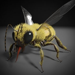 honey bee insect wings 3D model