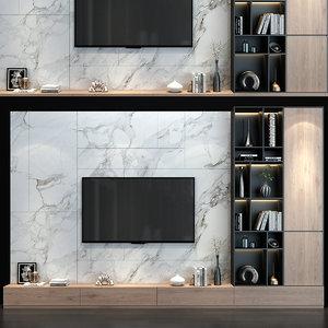 3D tv wall set 150 model