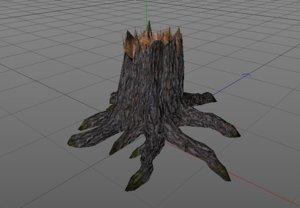 broken tree 3D model