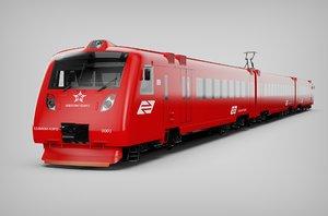 train aeroexpress 3D model