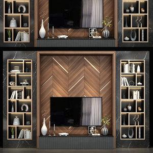 3D wall tv model