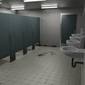 dirty restroom bathroom model