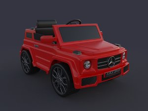 electric car kid 3D model