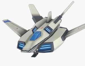 3D model ff rocket