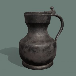 3D pewter jug model