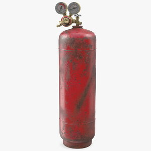acetylene gas cylinder regulator 3D model