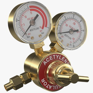 dual gauge acetylene regulator 3D model