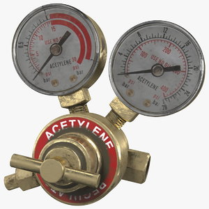 3D dual gauge acetylene regulator