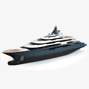 flyingfox luxury yacht dynamic 3D model