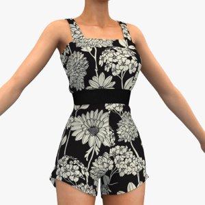 women s overalls 3D