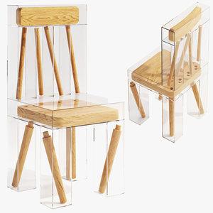 3D exploded chair joyce lin model